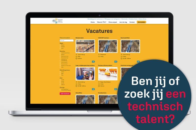 Technische vacatures op website TCL