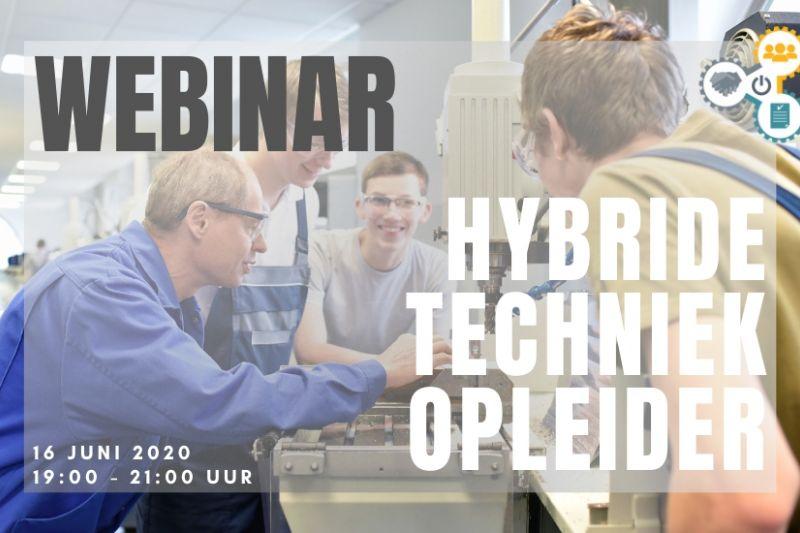 Meld je aan voor het webinar op 16 juni 2020 over hybride techniekopleiders